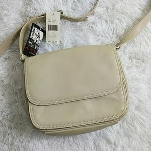 Beige Leather Multi-Compartment Purse by Aurielle